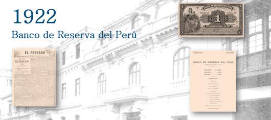 Creación del Banco de Reserva del Perú
