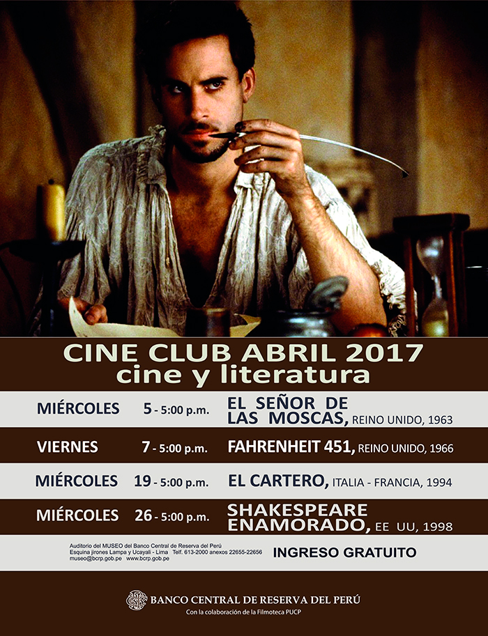 CINE CLUB – ABRIL