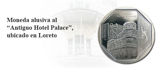 Moneda alusiva al Antiguo Hotel Palace