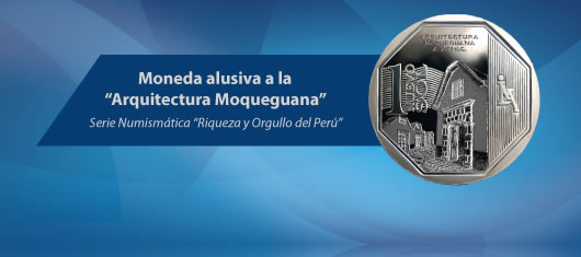 Moneda de Un Nuevo Sol alusiva a la Arquitectura Moqueguana