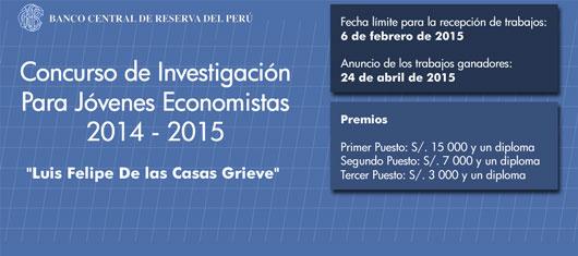 Concurso de Investigación Para Jóvenes Economistas 2014-2015